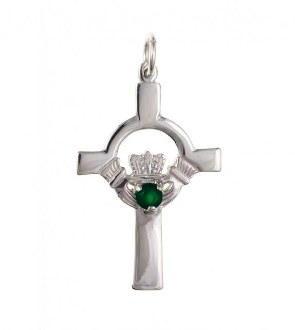 Green Agate Cross