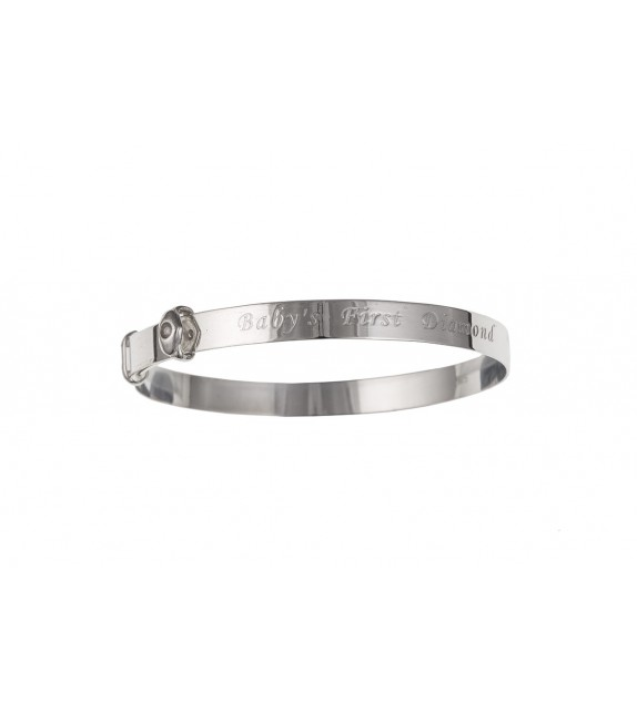 """Baby's 1st Diamond"" Expanding Bangle"