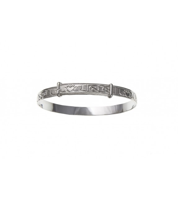 Claddagh Expanding Bangle