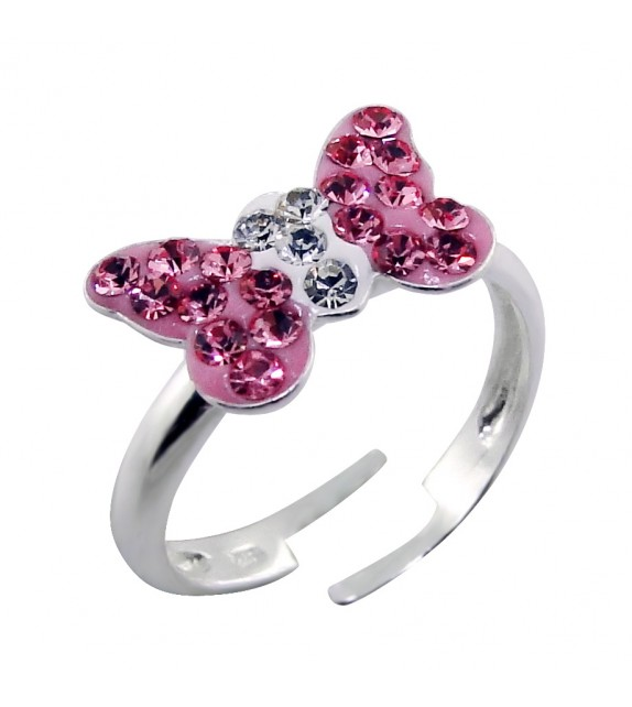 Child's Pink Bow Ring
